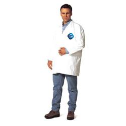 Dupont Xl Tyvek Lab Coat Snap Front 2 Pockets