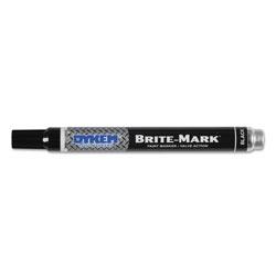 Dykem BRITE-MARK Paint Markers, Medium Bullet Tip, Black