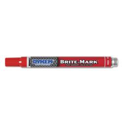 Dykem BRITE-MARK Paint Markers, Medium Bullet Tip, Red