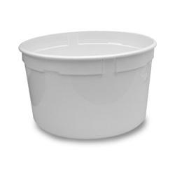 Berry Plastics Plastic Container, 1 GAL, White