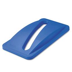 Rubbermaid Slim Jim Paper Recycling Top, 20.38w x 11.38d x 2.75h, Dark Blue