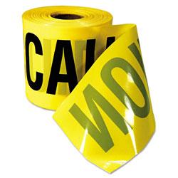 Empire Level Caution Barricade Tape,  inCaution Cuidado in Text, 3 inx200ft, Yellow w/Black Print