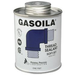 Gasoila Chemicals Soft-Set Thread Sealants, 1/2 Pint Brush Top Can, Blue/green