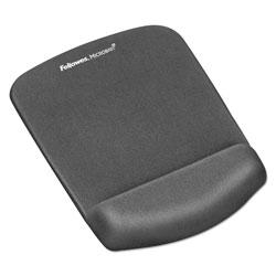Fellowes PlushTouch Mouse Pad with Wrist Rest, Foam, Graphite, 7 1/4 x 9-3/8
