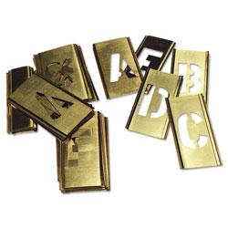 C.H. Hanson 33-Piece Single-Letter Brass Stencil Set