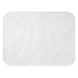 Hoffmaster Scalloped Edge Traymat, Bond Paper, White, 16.63 x 12.75, 1,000/Carton