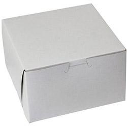 BOXit White Bakery Box, 6.5 in x 6.5 in x 4 in