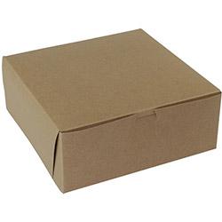 BOXit Kraft Bakery Box, 10 in x 10 in x 4 in
