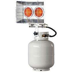 HeatStar Portable Propane Radiant Heaters, 20,000 Btu/h, 15 h