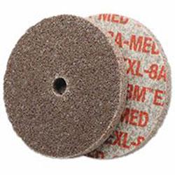 Scotch Brite® EXL Unitized Deburring Wheel, 3 X 1/8 X 1/4, Medium, Aluminum Oxide