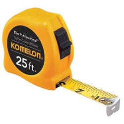 "Komelon Usa 5/8"" x 12' Yellow Case Steel Power Tape Measure"