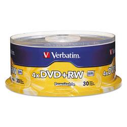 Verbatim 30 x DVD+RW - 4.7 GB 4X - Spindle - Storage Media