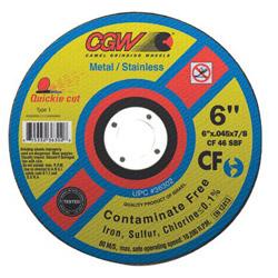 "CGW Abrasives 4-1/2"" x .045"" x 7/8"" T1 Wa36-t-bf Cf Quickie Cut"