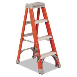 Louisville Ladder Fiberglass Heavy Duty Step Ladder, 23 in Working Height, 300 lbs Capacity, 3 Step, Orange