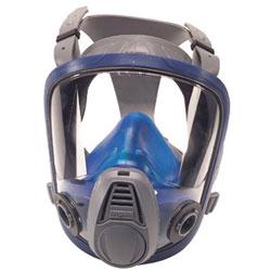 MSA Advantage 3200 Full-Facepiece Respirator, Medium, Silicone, Blue