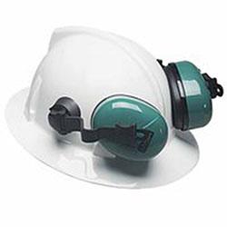 MSA Sound Control SH Earmuffs, 25 dB NRR, Green, Helmet