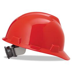 MSA Red V-gard Slotted Hard