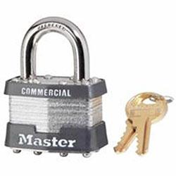 Master Lock Company Laminated Padlocks Keyed Alike Key Code 2001, 5/16 in Diam., 3/4 in W, Silver