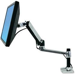 Ergotron LX Series LCD Arm, Desk Mount, Polished Aluminum/Black