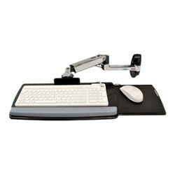 Ergotron LX Wall Mount Keyboard Arm, 17 1/2w x 10 1/8d, Polished Aluminum/Black