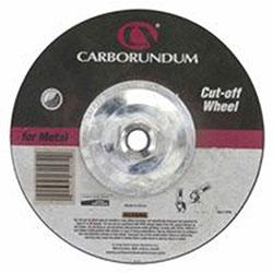 Carborundum Depressed Center Wheel, 4 1/2 in Dia, 1/8 in Thick, 5/8 in Arbor, Aluminum Oxide