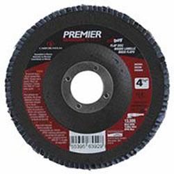 Carborundum Premier Red Zirconia Alumina Type 27 Fat Boy Flap Discs,4 1/2in,40 Grit,7/8 Arbor