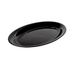 Innovative Designs Oval Platter, 18 inx11 in, Black