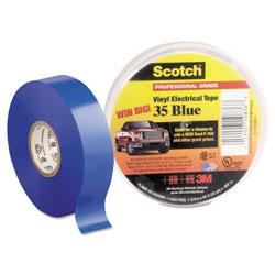 Scotch™ Scotch 35 Vinyl Electrical Color Coding Tape, 3 in Core, 0.75 in x 66 ft, Blue