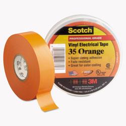 Scotch™ Scotch 35 Vinyl Electrical Color Coding Tape, 3 in Core, 0.75 in x 66 ft, Orange