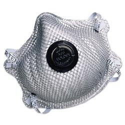 Moldex 2400N95 Series Particulate Respirator, Half-Face Mask, Medium/Large, 10/Box