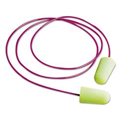 Moldex Pura-Fit Single-Use Earplugs, Corded, 33NRR, Bright Green, 100 Pairs