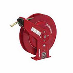 Reelcraft 1/4in x 50ft, 200 psi, gas welding hose reel with hose, WELD HOSE REEL 1/4X50 GR R