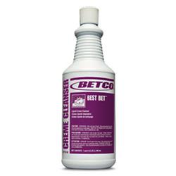 Betco Best Bet Liquid Abrasive Creme Cleanser, Quart Bottle, 12/Case