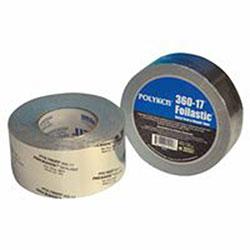 Berry Plastics Foilastic Butyl Seal & Repair Tapes, 1 7/8in X 1,188in, 17 mil, Aluminum - Printed