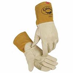 Caiman Kontour Welding Gloves, Cow Grain Leather, X-Large, Cream