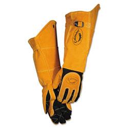 Caiman Welding Gloves, Deerskin, Tan/Black