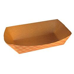 SQP Food Tray #250 Kraft Plaid