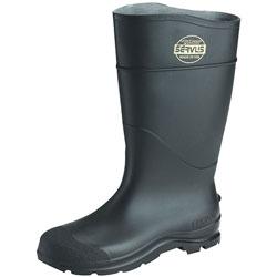 Servus CT Economy Knee Boots, Size 8, 15 in H, PVC, Black