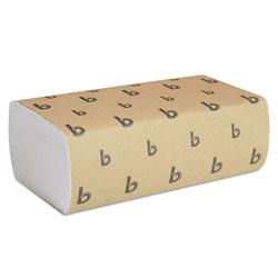 Boardwalk Multifold Paper Towels, White, 9 x 9 9/20, 250 Towels/Pack, 16 Packs/Carton