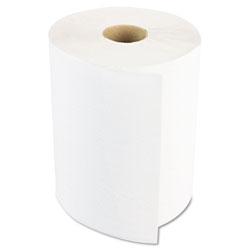 Boardwalk Hardwound Paper Towels, 8 in x 800ft, 1-Ply, White, 6 Rolls/Carton