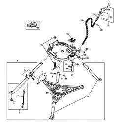 Ridgid E3171x Handle & Nut Asm