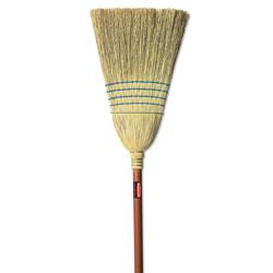 Rubbermaid Warehouse Corn-Fill Broom, 38-in Handle, Blue