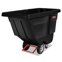 Rubbermaid Rotomolded Tilt Truck, Rectangular, Plastic, 450 lb Capacity, Black