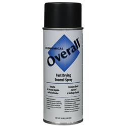 Rust-Oleum Overall Economical Fast Drying Enamel Paint, 10 oz, Flat Black
