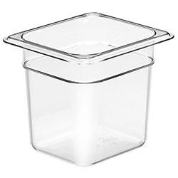 Cambro Food Pan 1/6 X 6 in Camwear® Clear
