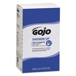 Gojo SHOWER UP Soap and Shampoo, Rose Colored, Pleasant Scent, 2000 mL Refill, 4/Carton