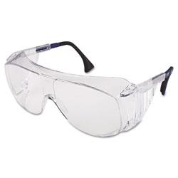 Uvex Safety Ultraspec 2001 OTG Safety Eyewear, Clear/Black Frame, Clear Lens