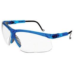 Uvex Safety Genesis Eyewear, Vapor Blue Frame, Clear UD Lens