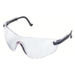 Uvex Safety Falcon Eyewear, Black Frame, Clear XTR Lens