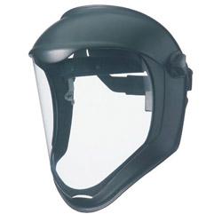 Uvex Safety Bionic Face Shield, Matte Black Frame, Clear Lens